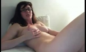 Busty Nerdy Widely applicable Masturbating On Cam