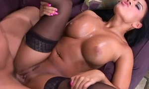 Eva Angelina gets a fat cock secure her muted cunny.