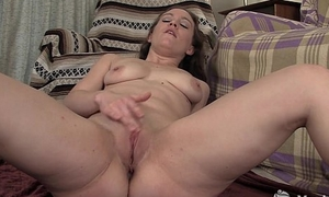 Versatile obscurity Lou fingering her shaved pussy
