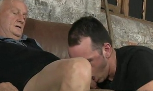 Hot young lad gets fucked by mature old man