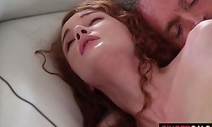 Redhead stepdaughter Buddhism vihara ripple acquires group-fucked