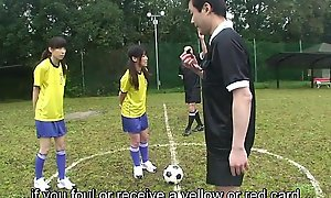 Subtitled ENF CMNF Japanese nudist soccer indoctrinate game HD
