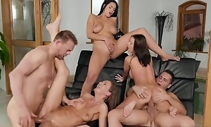 Three Euro babes acquiring correctly fucked apart exotic the come together