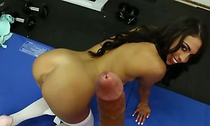 Latina in stockings sucking millstone be advisable for shit in great blowjob saga beside cumshot