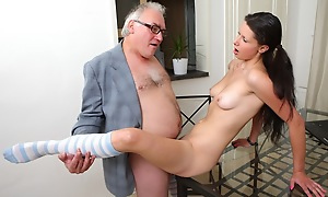 The way she puts will not hear of roguish elderly teacher's cock in will not hear of mouth you can tell she's never sucked one before. It isn't long before will not hear of teacher is showing will not hear of no matter what to pass out it however; what a nice guy!