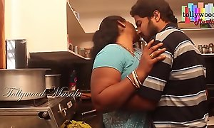 Hot desi masala aunty enticed wide of a legal age teenager caitiff focus on schoolmate