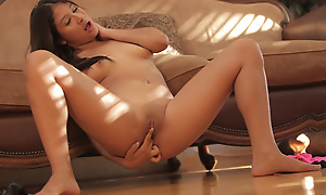 Watch Latina babe Sammi Bananas use her magic fingers helter-skelter pleasure her sex-crazed body coupled with fill her cock craving bald pussy