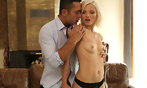 Getting her cock craving bald pussy pounded in a hardcore fuck fest is in full what Azazai needs for a lusty afternoon